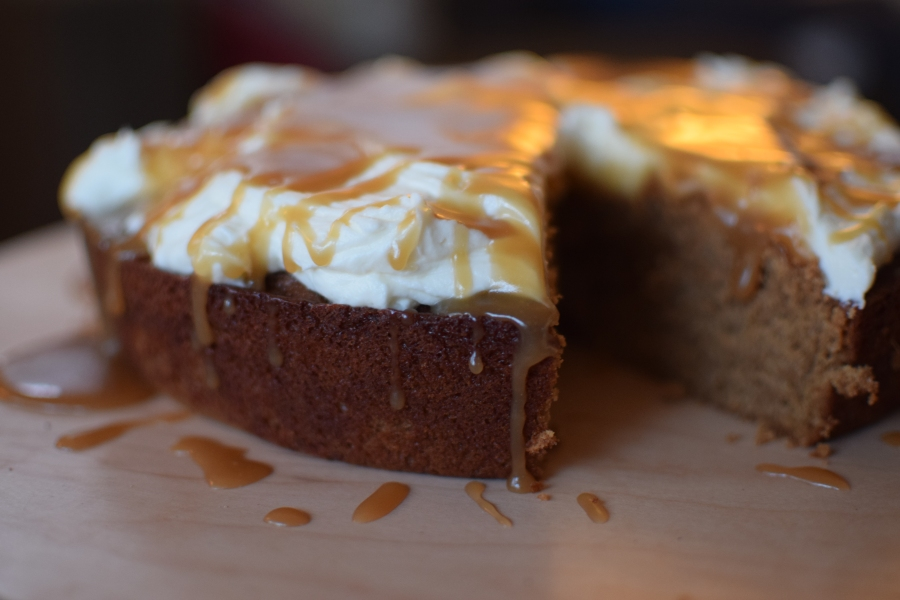 "Molasses Spice Cake with Brown Sugar Glaze and a Failure of a ""Snowshoeing"" Trip"